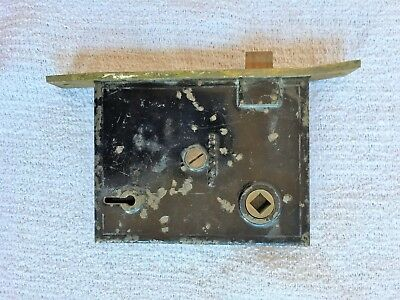 Antique 1872 Mallory & Weller M. W. & Co. Mortise Lock & Face Plate