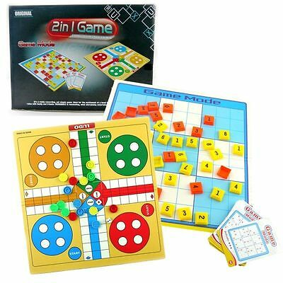 2 In 1 Game Mode Sudoku & Ludo Set Family Kid Board Travel Game Toy 2-4 Players