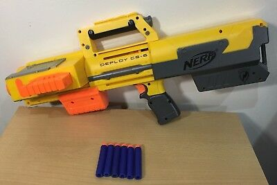 Nerf Elite N-Strike Gun Deploy CS-6 Blaster Red Laser Light Magazine Fold Up
