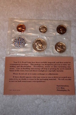 1963 Proof Set With COA, Flat Pack Original Envelope, US Silver Mint Coin Set