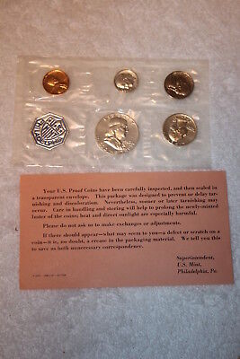 1962 Proof Set With COA, Flat Pack Original Envelope, US Silver Mint Coin Set
