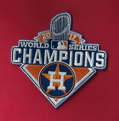 "🔥 HOUSTON ASTROS World Series Champs 2017 4 1/2 X 4 1/2"" Iron on Patch Free Shi"