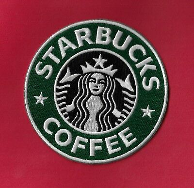 "NEW StarBucks Coffee 4"" Iron on patch Free Shipping."