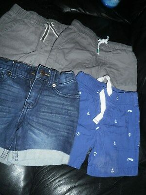 Lot 4 Boys 2T Shorts Summer Jumping Beans Carters Cat & Jack Great Used Condtion