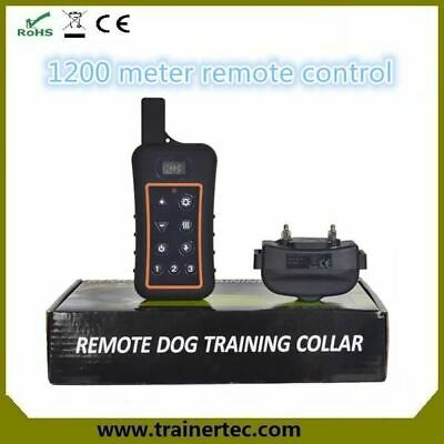 Big LCD display 1200M electronic rechargeable and waterproof remote dog training