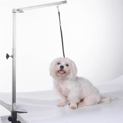 Foldable Pet Cat Dog Grooming Arm 62cm Stainless Steel Pets Puppy Grooming Table