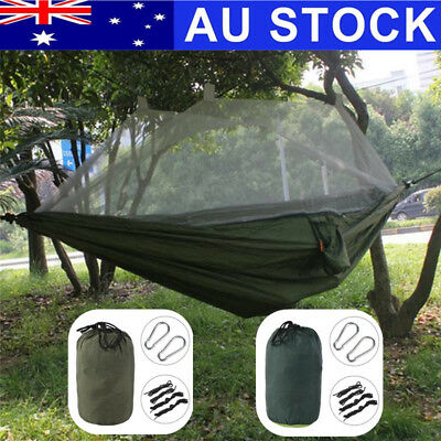 Ultralight Camping Hammock Double Parachute Hanging Bed with anti-Mosquito Net