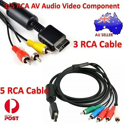 New 1.8M Component Cable HD AV VIDEO AUDIO 5RCA For Sony PS2 PS3 Playstation 2 3
