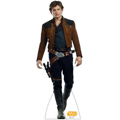 HAN SOLO Solo: A Star Wars Story CARDBOARD CUTOUT Standup Standee Poster F/S