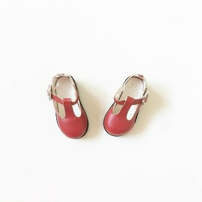 T-Strap Schuhe gotall rot f. (Blythe, Licca) Azone Pure Neemo usw. Puppen