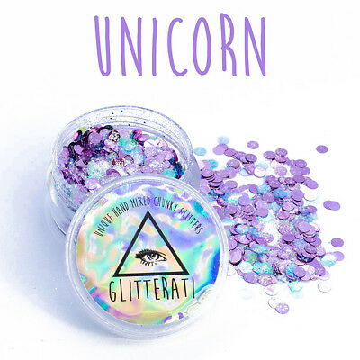 Unicorn Chunky Mixed Glitter for Face Body Nails Festivals Tattoo Cosmetic