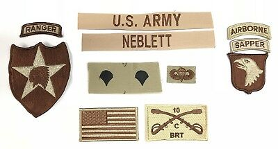 Bekleidung & Schutzausrüstung 9 US ARMY patch Set DCU Desert Uniform Konvolut 4th ID AIRBORNE 2nd ACR Lt LAURY