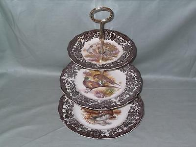 Royal Worcester Palissy Game Series 3-Tier Hostess Cake Stand (V1)