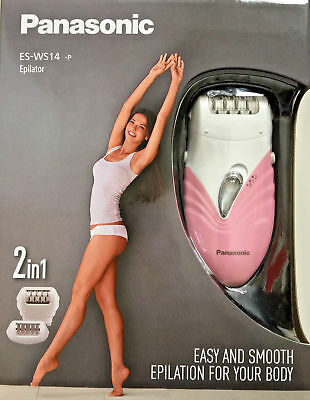 Panasonic ES WS14 Compact 2 Speed Epilator - Pink/White (BRAND NEW)
