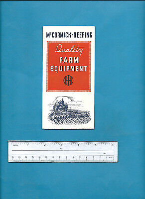 1930s IH McCORMICK-DEERING TRACTOR & EQUIPMENT FOLD-OUT SALES BROCHURE 46 X 31cm