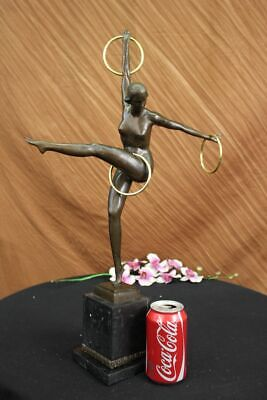 Close Out SIGNED Duveries JUGGLER MALE BRONZE STATUE SCULPTURE FIGURINE ART DECO