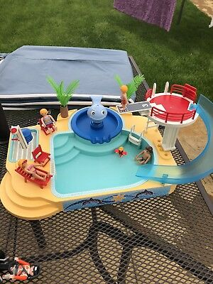Playmobil Swimming Pool With Slide 5433 Set