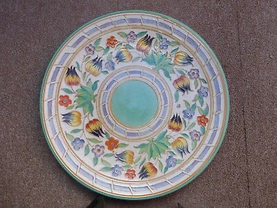 "Charlotte Rhead 12"" Charger in the TL14 pattern by H.J. Wood excellent condition"