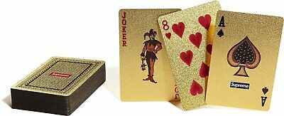 Supreme Box Logo Gold Deck Playing Cards Diamond Shiny Sparkly Poker FW 13
