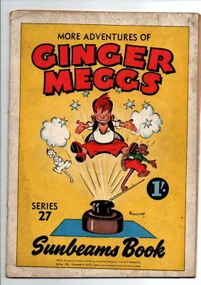The Sunbeams Book:  Adventures of Ginger Meggs, Series   27  FINE 1950s