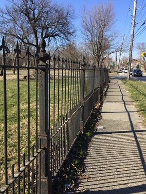 Antique Steel Fence with Cast Iron Posts