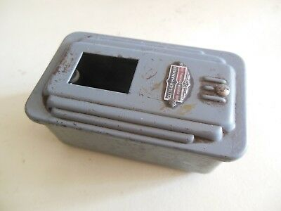 Vintage Art Deco 1940s Cutler Hammer Push-Button Motor Control Switch BOX only
