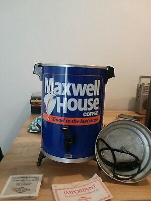 Vintage Maxwell House 30 Cup Coffee Pot Maker Percolator WestBend 1970's