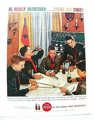 """1958 Mar. Boy's Life Magazine """"can You Name The Knot"""" Boy Scout Working On Knots"""