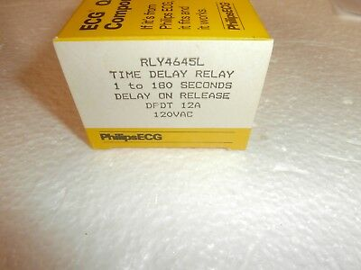 Rly4645L Philips Ecg Time Delay On Release  Relay(R36-11A12-120L)120Vac/dc,nos
