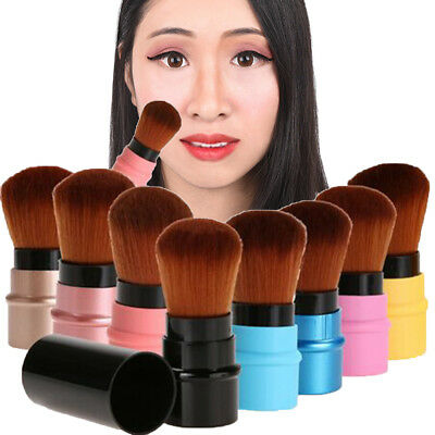 Travel Retractable Makeup Tool Mini Blush Brush Eye Brow Foundation Powder  JDUK