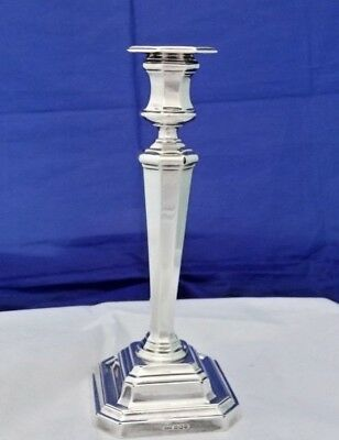 Edwardian Hallmarked Silver Candlestick by James Dixon & Sons Sheffield 1908