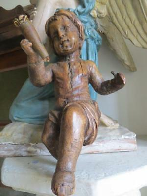 Antique French Carved Wood Cherub/Putti..early 1800s