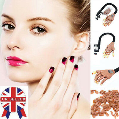 UK Stock Adjustable Nail Art Training Hand Practice Learning Model Refit Tips