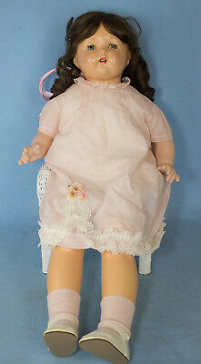 """30"""" Composition Mae Starr Phonograph Doll + 1 Record Cylinder 1928"""