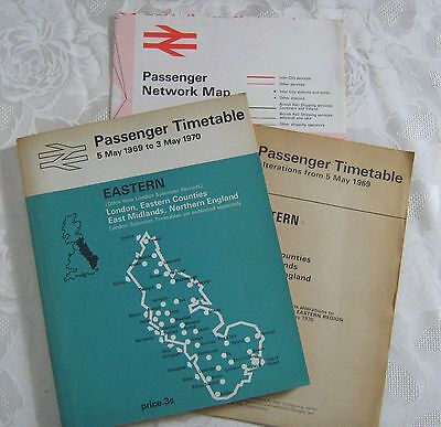 Passenger Timetable 1970 Eastern Kursbuch Alterations Network Map 3 Teile