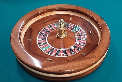 22 Inch Solid Mahogany Roulette Wheel (Made in the USA)