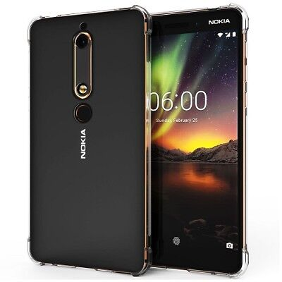 New Clear Silicone TPU Gel Tough Edge Protection Case Cover For Nokia 6 2018