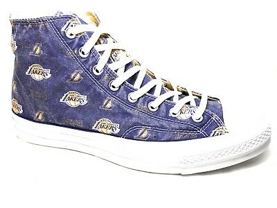 f0e558a589d176 Converse Chuck 70 NBA Franchise Hi Field Purple Amarillo White LA Lakers  161160C