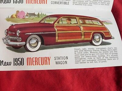 1950 MERCURY Car Dealer Dearlership Woodie Woody Station Wagon Coupe Brochure
