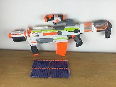 Nerf N-Strike Modulus ECS 10 Blaster Gun + 40 new sealed darts