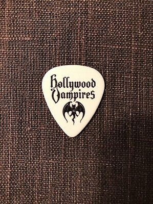 Joe Perry Aerosmith RARE Textured White SMALL BAT Hollywood Vampires Guitar Pick
