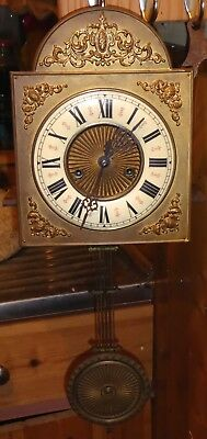 Beautiful Gustav Becker antique Vienna wall clock movement, needs slight work