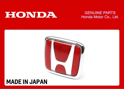 Genuine Honda Front Grille Red H Emblem Badge Civic Type R Fk8 2017+