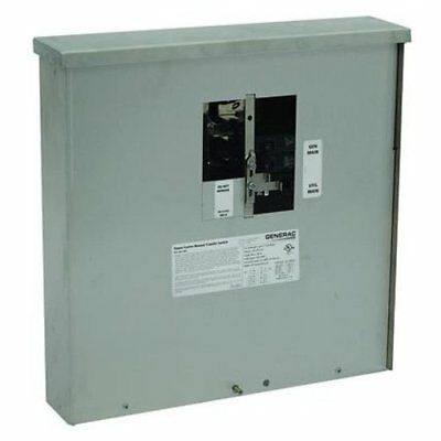 Generac 6382 30-Amp Manual Transfer Switch Outdoor Service Power Center for Watt
