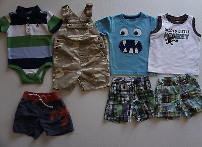 46bdf8077d0 BABY BOYS SIZE 12-18 Months Summer Clothes Lot of 7 Items L1-18 ...