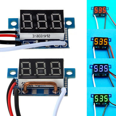 Mini LED 3-Digital Display Direct Ammeter Amp Current DC Meter Panel w/ 4 Wires