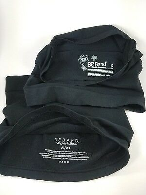 Lot of 2 Maternity Beband Brand Belly Bands Black Size Small/Medium S/M