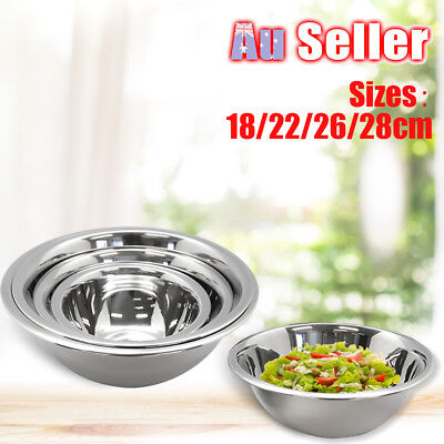 4 Pcs Stainless Steel Mixing Bowl Set Kitchen Food Salad Mixing and Prep Bowls