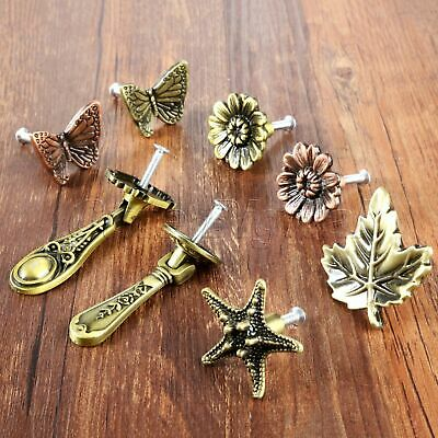 Vintage Cabinet Drawer Pull Knobs Retro Leaf Starfish Butterfly Furniture Handle