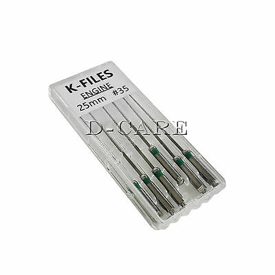 6Pcs Dental Endo Rotary Root Canal SST Engine K-files #35 25MM K-File